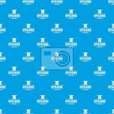 Nahtloses Muster des Hygienemorgen-Mustervektors Blau