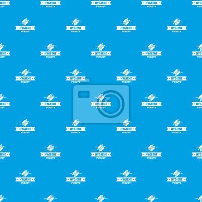 Nahtloses Muster des Hygieneohr-Mustervektors Blau