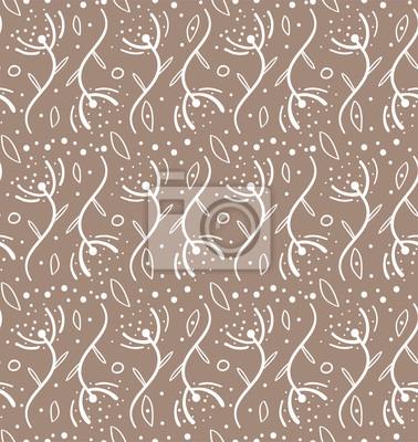 Nahtloses Muster In Der Skandinavischen Art Florar Muster Fur