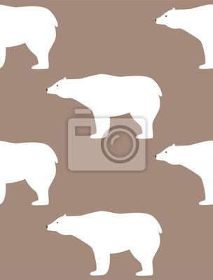 Fototapete Nahtloses Muster In Der Skandinavischen Art. Muster Mit Weißen  Dears Für Den Druck Auf