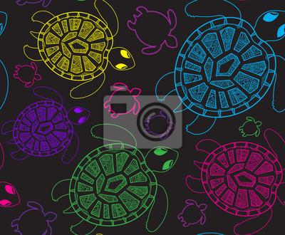 Nahtloses Muster mit Schildkröten. Nahtlose Muster kann verwendet werden für