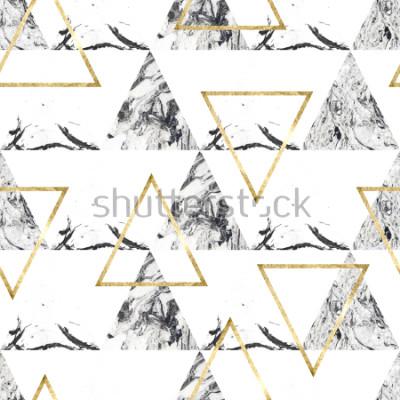 Fototapete Nahtloses Muster mit Tringles und Marmorbeschaffenheit