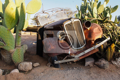 Namibia - Altes Auto im Solitaire