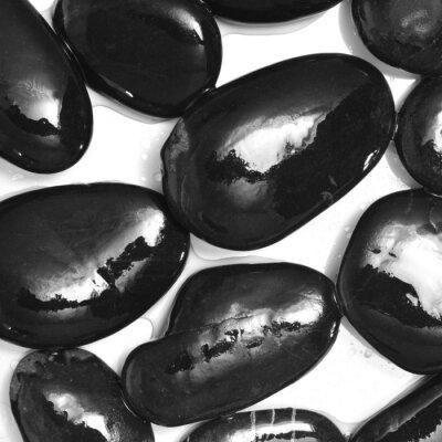 Fototapete nassen schwarzen Steine