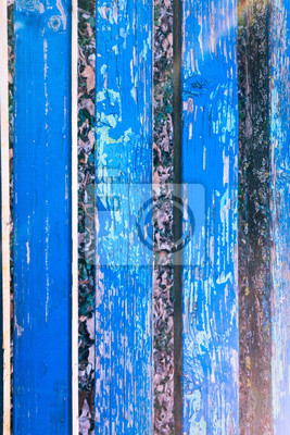 Naturliche Alte Gemalt Blau Grob Gemahlen Holz Textur Muster