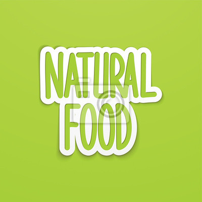 Natürliche Lebensmittel Hand geschrieben Schriftzug Kalligraphie. Vektor