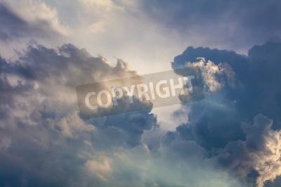 Fototapete Natürlicher Hintergrund des Himmels und der Wolken