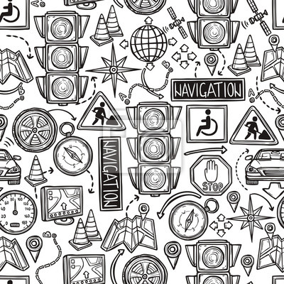 Navigation Seamless Pattern