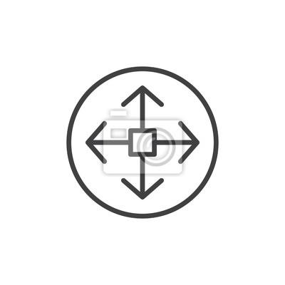 Navigationssymbol, logo abbildung. bearbeitbarer strich fototapete ...