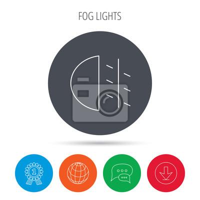 Nebelscheinwerfer Symbol Auto Lichtschranke Fototapete