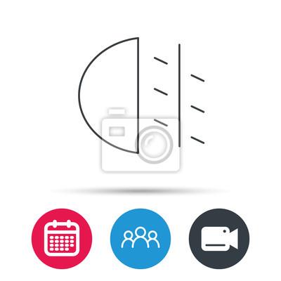 Nebelscheinwerfer Symbol Auto Lichtschranke Gruppe Von Menschen