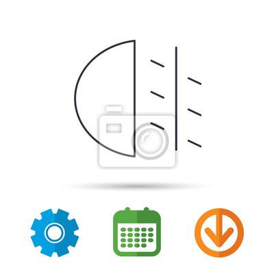 Nebelscheinwerfer Symbol Auto Lichtschranke Kalender Zahnrad