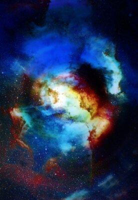 Fototapete Nebula, kosmischen Raum und Sterne, blau kosmischen abstrakten Hintergrund. Elemente dieses Bildes von der NASA eingerichtet.
