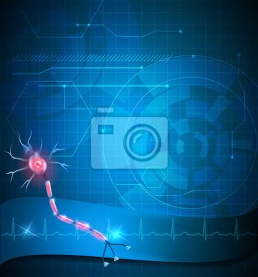 Nervenzelle hintergrund fototapete • fototapeten Nerven ...