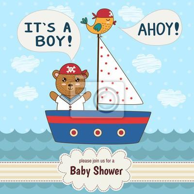 Nette Babypartyeinladungskarte Es ist ein Junge