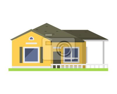 fototapete nette bunte wohnung stil haus dorf symbol immobilien hutte und haus design wohn bunte