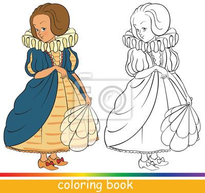 Nette Junge Prinzessin Malbuch Oder Ausmalbilder Für Kinder