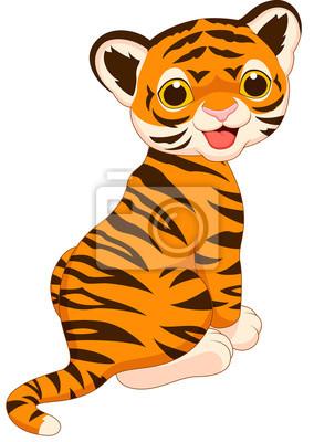 Fototapete Netter Tiger Cartoon