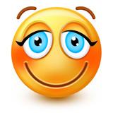 Nettes lachendes gesicht emoticon oder 3d smiley emoji
