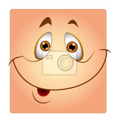 Glückliche Gesichtszeichnung