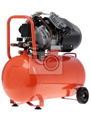 Splitter nya Neue luft-kompressor auf einem weißen hintergrund. fototapete KU-33