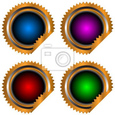 Neue Vier-Web-Symbole