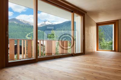Neue Wohnung Zimmer Mit Betonwanden Grosse Fenster