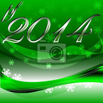 Neues jahr wünscht, 2014 fototapete • fototapeten Schneeflocke, neue ...