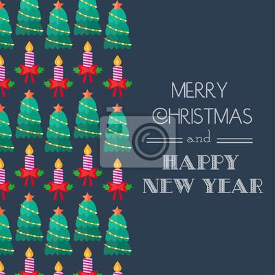 Neujahr und weihnachten karte. kalli typografie. wohnung fototapete ...