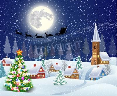 neujahr und weihnachten winterlandschaft mit. Black Bedroom Furniture Sets. Home Design Ideas