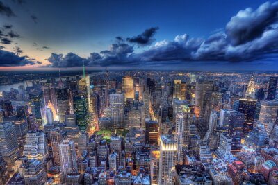 Fototapete New York bei Nacht.