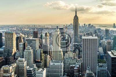 Fototapete New York City Luftaufnahme