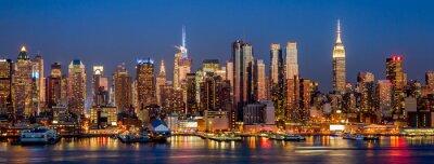 Fototapete New York City Manhattan Midtown Gebäude Skyline Nacht