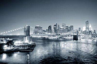 Fototapete New York City Manhattan schwarz und weiß