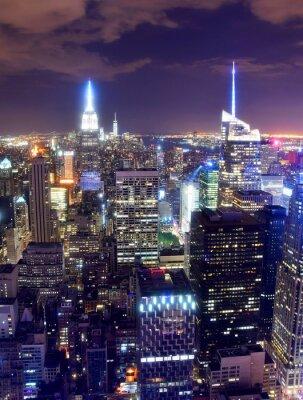 Fototapete New York City skyline at night