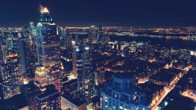 Fototapete New York City Skyline bei Nacht