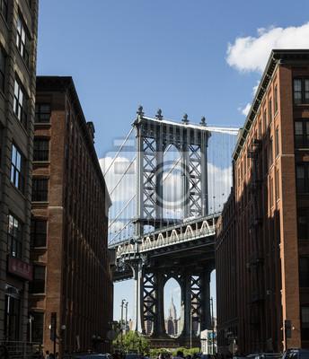 New York, Manhattan-Brücke und DUMBO-