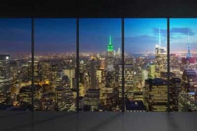 Fototapete New York Nachtansicht
