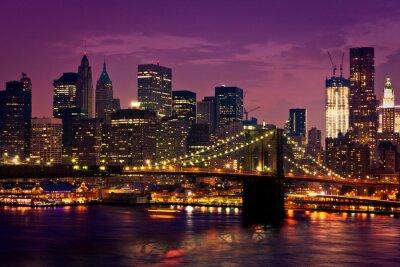 Fototapete New York pont de Brooklyn