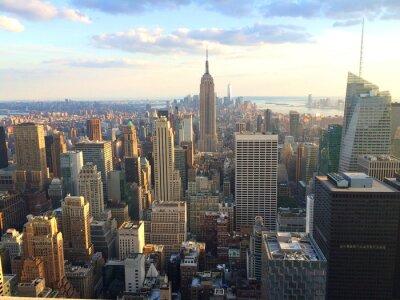 Fototapete New York vista al tramonto da top of the rock