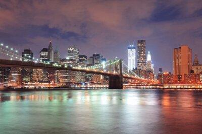Fototapete New Yorker Brooklyn Bridge