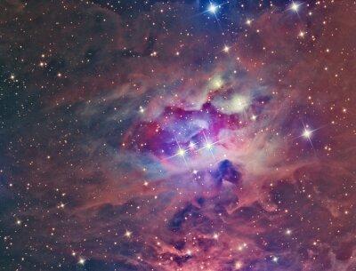 Fototapete NGC 1973 Running Man Nebula abgebildet mit einem Teleskop und einer wissenschaftlichen CCD-Kamera