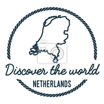 Niederlande Karte Umriss.Fototapete Niederlande übersichtskarte Vintage Entdecken Sie Die Welt Stempel