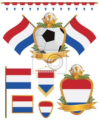 niederländische Flaggen