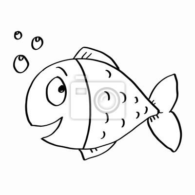 Niedliche fische färbung fototapete • fototapeten Schwein, Färben ...