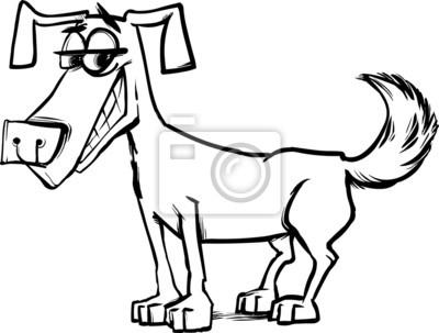 Niedlichen hund charakter malvorlagen fototapete • fototapeten Hunde ...