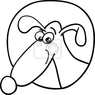 Niedlichen hund zeichen cartoon malvorlagen fototapete • fototapeten ...