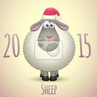 Niedlichen Schafe für ein gutes neues Jahr 2015