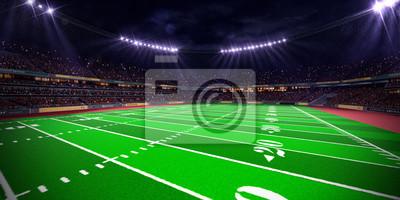 Night football arena Stadium render