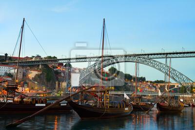 Fototapete Night scene of Porto, Portugal